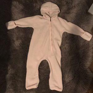 Moncler One Pieces - MONCLER Fleece Pink Bunting  18-24 months
